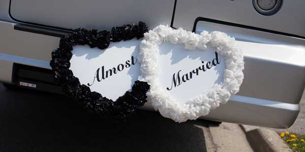 Almost Married Heart Limo Decoration