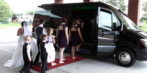 wedding shuttle for guests